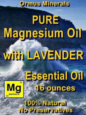 Ormus Minerals -Pure Magnesium Oil with Lavewnder Essential Oil