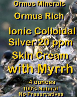 Ormus Minerals -Ormus Rich Ionic Colloidal Silver 20 ppm with MYRRH