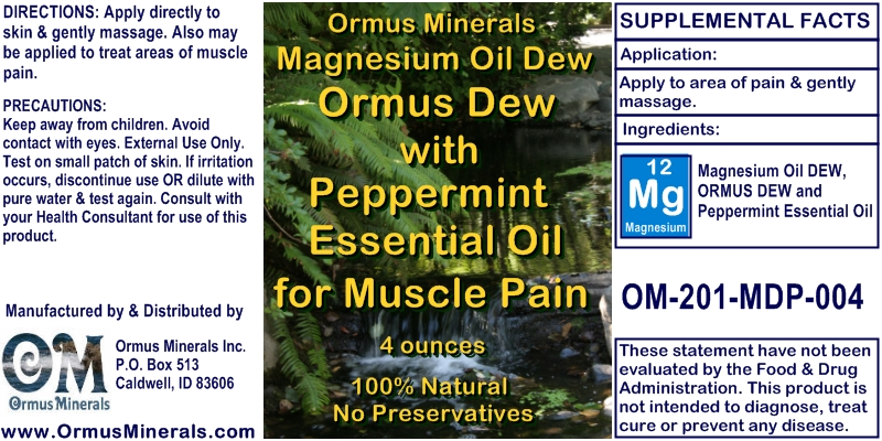 Magnesium and Peppermint muscle relief