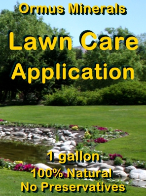 Ormus Minerals -Lawn Care Application