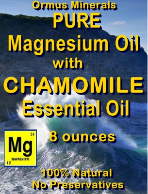 Ormus Minerals -Pure Magnesium Oil with Chamomile Essential Oil